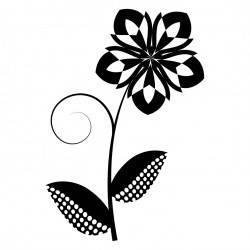 Простой цветок с лепестками