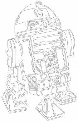 Трафарет R2-D2 (звездные войны)