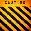 Желто-оранжевый фон CAUTION