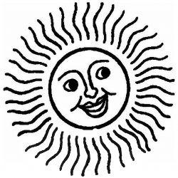 Трафарет — улыбающееся солнце