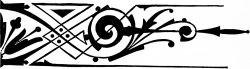 Меандр в стиле ар-деко с цветами — 4