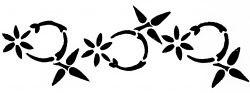 Меандр в стиле ар-деко с цветами — 2