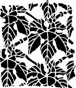Трафарет в стиле Ар-деко — листья цветов