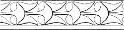Меандр в стиле ар-деко с цветами — 3