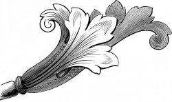 Трафарет в стиле Ар-деко — бутон цветка