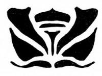 Простой трафарет для росписи — бутон цветка — 3