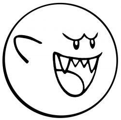 Трафарет призрак Boo