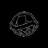 Черепашкин трафарет для наклейки-декали из игры Супер Марио