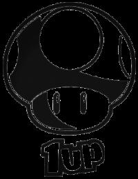 Гриб 1up трафарет для наклейки-декали из игры Супер Марио