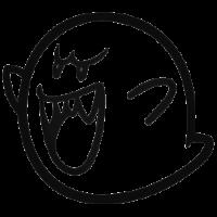 Призрак Буу трафарет для наклейки-декали из игры Супер Марио