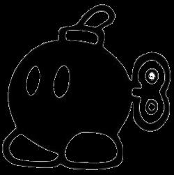Бомбочка трафарет для наклейки-декали из игры Супер Марио