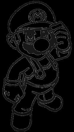 Луиджи трафарет для наклейки-декали из игры Супер Марио